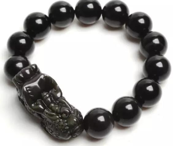 黑曜石貔貅手链佩戴方法,黑曜石貔貅手链禁忌