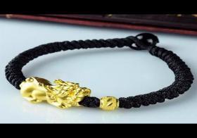 佩戴千足金貔貅手链手串,让事业平步青云全靠它