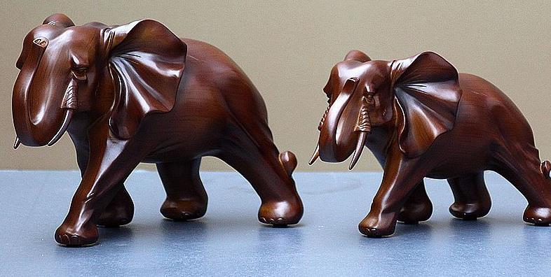 一对大象左右如何摆放 大象摆放都有哪些讲究呢