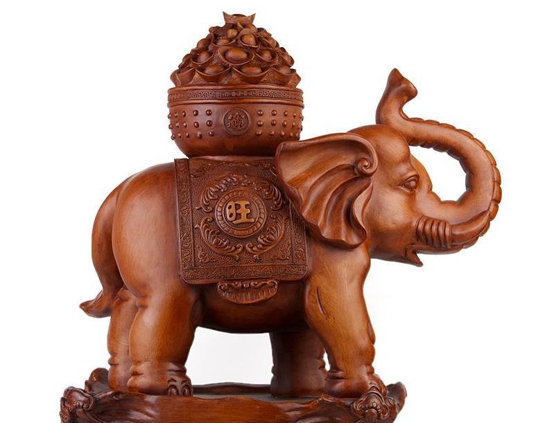 摆放木雕大象什么寓意