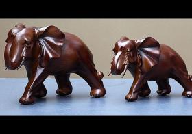木雕大象摆件雌雄如何分辨?