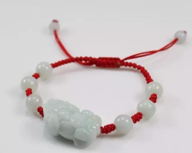 红绳貔貅手链编法图片欣赏