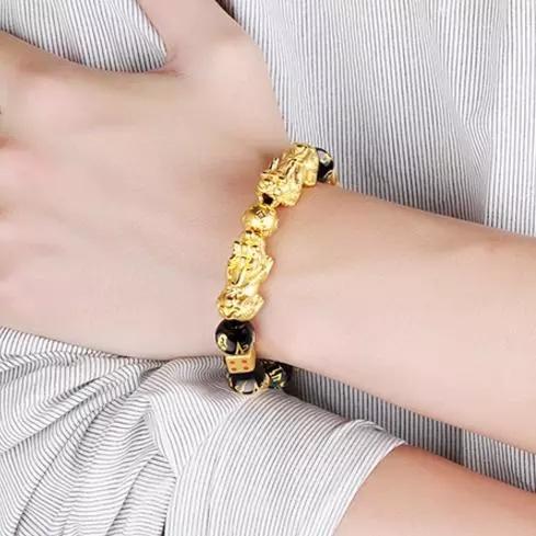 黄金貔貅手链配什么珠子?