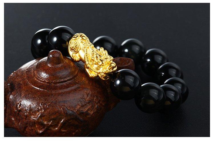 黄金貔貅配什么珠子好?