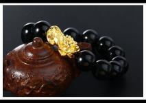 黄金貔貅配什么转运珠珠子好?